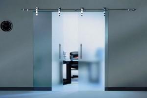 klizna staklena vrata sa inox sipkom (2)